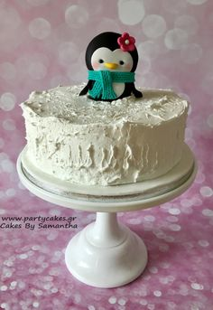My Penguin Christmas Cake by Cakes By Samantha (Greece)