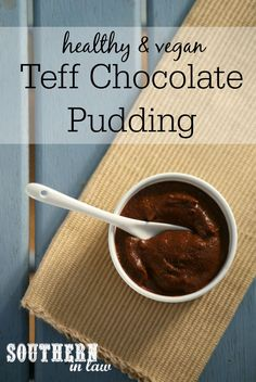 You would never guess that this Chocolate Pudding was healthy, gluten free or vegan - and it has a secret ingredient; Teff! Find out more about this ancient grain and get the recipe for this healthy, gluten free, vegan, egg free, dairy free and refined sugar free chocolate pudding!