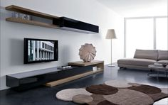 Clever Modern CD Storage Solutions for Space Saving Room: Perfect Modern Living Room Interior Completed With Modern CD Storage Solutions With Wooden Material For Inspiration ~ SFXit Design Furniture Inspiration