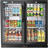 Koolmore 2 Door Back Bar Cooler Counter Height Glass Door Refrigerator With Led Lighting 7 4 Cu Ft In 2020 Glass Door Glass Door Refrigerator Back Bar