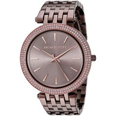 Brown stainless steel watch