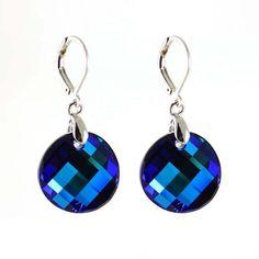 Náušnice Swarovski Elements Twist 713akt6621-18-30 - tmavě modré - Bijoux Me! - bižuterie, šály a šátky Swarovski, Drop Earrings, Personalized Items, Blue, Jewelry, Jewelery, Jewellery Making, Jewerly, Drop Earring