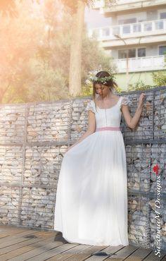 Bohemian Wedding Dress Boho Bridal Gown Gypsy by SuzannaMDesigns