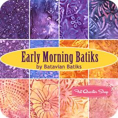 Early Morning Batiks.  Love for the oranges