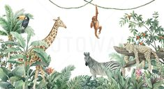 Looking for a stylish wallpaper? Check out our Safari Animals wallpaper category. Photowall gives you high quality and fast and free US shipping. Tier Wallpaper, Animal Wallpaper, Textured Wallpaper, Custom Wallpaper, Wall Wallpaper, Wallpaper Jungle, Stick Wall Art, Create Your Own Wallpaper, Wallpaper Companies