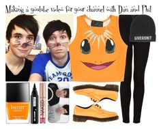 """""""Making a youtube video for your channel with Dan and Phil"""" by fifipayhorstylikson ❤ liked on Polyvore featuring Topshop, O-Mighty, Dr. Martens, Butter London, Sparkling Sage, Ardency Inn, A Question Of, Caso and Urban Decay"""