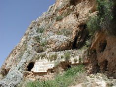 Caves in the Arbel Cliffs