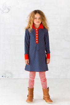 AlbaBabY Dorthea Dress blue with flowers