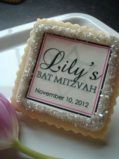Bat Mitzvah Custom Cookie Favors by StoneHouseOven