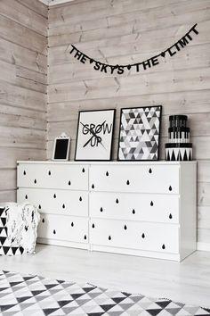 Dale vida a una cómoda Malm de Ikea con vinilo - Boho Deco Chic