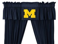 NCAA Michigan Wolverines  5pc Jersey Drapes Curtains and Valance Set ** Click image to review more details.