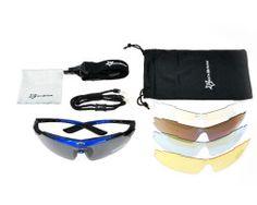 Športové multifunkčné okuliare na šport aj nočnú jazdu - čierno-modré