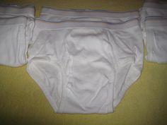6 Pr Mens Vintage White Briefs Fruit of the Loom Underwear Med Gold Blue Stripe #FruitoftheLoom #Brief