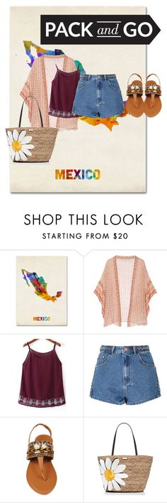 """Mexico's New Journey"" by nmiller526 ❤ liked on Polyvore featuring Trademark Fine Art, Mes Demoiselles..., WithChic, Glamorous and Kate Spade"
