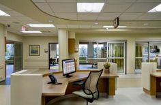 icu design | In the technologically advanced ICU, a soothing palette provides a ...