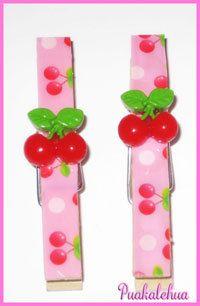 Sweet Cherries Altered Clothespins by kawaiislandgurl72 on Etsy, $3.50