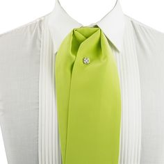 Sumptuous Signature Series 4D silk charmeuse in Green Pear from Como, Italy. Handcrafted by senior Italian Artisans.