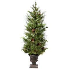 4' Vickerman S113648 Lometa Mix Pine - Green
