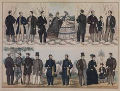Fashion Plate of men's and boys' fashions  circa late 1850s