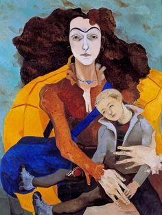 Neş'e Erdok, Figures in this picture my art teacher Nurseren Tor and her son Tarık. She was Neşe Erdok's student too.
