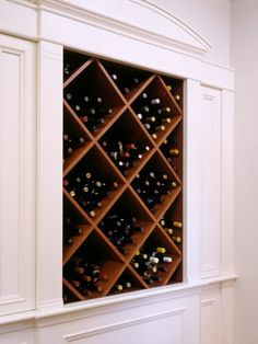 Great wine storage - possible for wall area between kitchen/dining room/living room.
