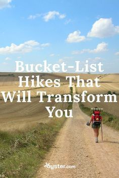 Hiking is a unique and special activity that usually guarantees pretty scenery, well-earned endorphins, and even some spiritual goodness. It will also remind you how little you need to actually survive. We focused on amazing five- to hikes around t Thru Hiking, Camping And Hiking, Kayak Camping, Winter Camping, Camping Stuff, Camping Tips, Backpacking Tips, Hiking Tips, Hiking Gear