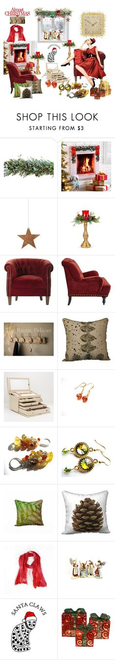 """Almost Christmas"" by belladonnasjoy ❤ liked on Polyvore featuring Improvements, Shishi, Home Decorators Collection, Pier 1 Imports, Wolf, Olivine, Tt Collection, modern, rustic and vintage"