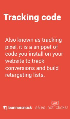 Also known as tracking pixel, it is a snippet of code you install on your to track and build lists.