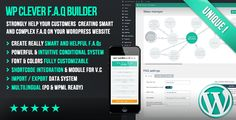 WP Clever FAQ Builder - Smart support tool for Wordpress by loopus PRESENTATIONThis unique plugin allows you to easily and quickly create complex F.A.Qs to effectively help your customers. Instead of a classical F.A.Q simply composed of a list of questions/answers, the generated F.A.Q can have an