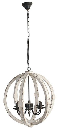A&B Home Calder Wooden Chandelier, 22.5 x 26""