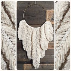 lots of Etsy orders going out today!) of my feathered hoops will be available in less than a week! Hippie Crochet, Jute Crafts, Macrame Tutorial, How To Make Diy, Diy Wreath, Wreaths, Modern Bohemian, Diy Wall Art, Crochet Fashion