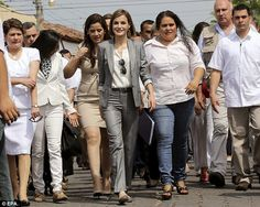 Busy schedule: Yesterday saw the royal spend the afternoon in the town of Suchitoto...