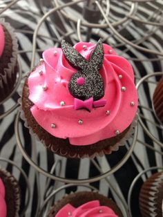 Playboy logo Cupcake I made these for a bachelorette party :-)
