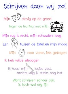Gedichtje gepikt, beetje aangepast en een super leuke poster voor in de klas gemaakt. Kost even tijd maar dan heb je ook wat. Learn Dutch, I Love School, Spelling Activities, Teaching First Grade, Coaching, School Posters, Teacher Education, Learning To Write, Classroom Language