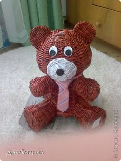 Osito con periódicos  -  Teddy bear with newspapers