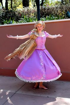 Oh if I could have any job in the world I would pick being Rapunzel for Disneyland.