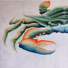 Feeling Crabby? Hope this cheers you up   By - @theartoffish .  •  •  •  #art #artistsoninstagram #artwork #art #artist #artistic #artsy #artlover #artlover #artlovers #artloverslane #artlover #gallerywall #gallery #galleryshow #painting #paintings #paintingoftheday #paintingofinstagram #instaart #crab #crabart #crabby #ocean #oceanart #canvas #canvaspainting #canvasart Crab Art, Fish Art, Australian Artists, Byron Bay, Resin Art, Insta Art, Lovers Art, Canvas Art, Whales