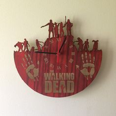 Walking Dead laser cut clock by CraftCwtches on Etsy