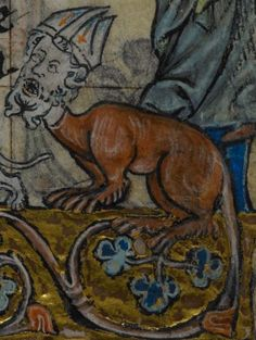 Detail from medieval manuscript, British Library Stowe MS 17 'The Maastricht Hours', f131r