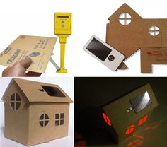 New solar powered night light. Made in paper board. Casagami by Litogami, France