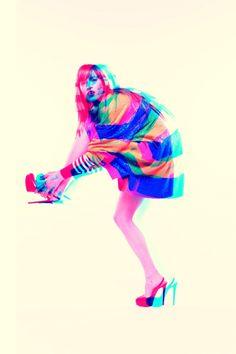 Technicolor girl