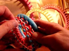 How to #Knit A Hat Brim on a #Round #Loom, courtesy Mikeyssmail (Michael Sellick of The Crochet Crowd).