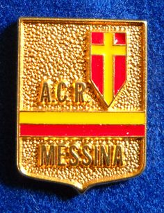 DISTINTIVO SPILLA PIN BADGE A.C.R. MESSINA CALCIO