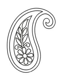 Are you looking for Outline paisley embroidery design? Check out this outline and beautiful paisley embroidery from embroideryshristi Indian Embroidery Designs, Hand Embroidery Design Patterns, Hand Embroidery Videos, Embroidery Stitches Tutorial, Kasuti Embroidery, Paisley Embroidery, Hand Embroidery Flowers, Hand Work Embroidery, Paisley Art