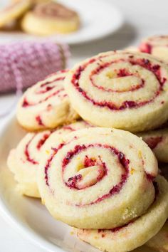 Cranberry Orange Swirl Cookies made with fresh cranberries and orange peel. Sugar cookie with rolled cranberry filling. Perfect for the holidays.