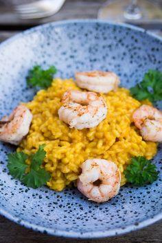 White Tiger Garnelen auf Curry-Risotto – Flavoured with Love