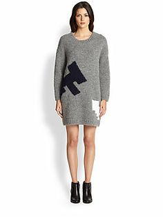 Boy. by Band of Outsiders Atari Combat Fighter Sweater Dress