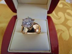#jewelry Solid 14k Yellow Gold Solitaire Man Made Diamond Engagement Ring 2 ct Round Cut please retweet