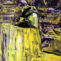 Majakovskij, olio su tela, 100 X 100 cm, 2017
