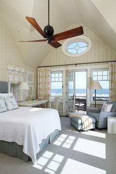 White Boat house bedroom